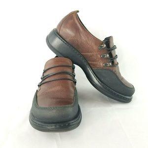 Dansko Erika Shoes Lace Up Leather Loafer Slip On